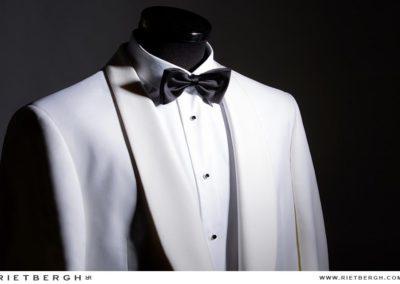 witte smoking trouwpak